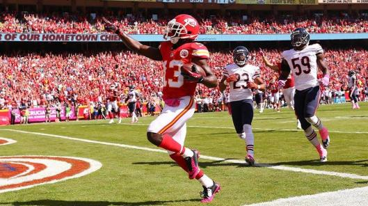 D'Anthony Thomas scored the Chiefs' second touchdown Sunday. (Kansas City Chiefs photo)