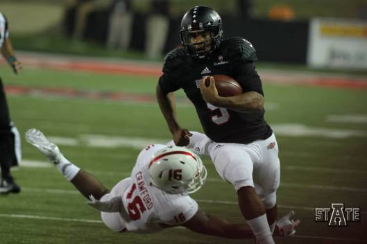 Quarterback Fredi Knighten rushed for 72 yards Tuesday night. (ASU Photo)