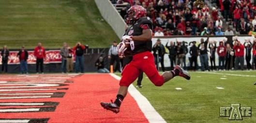 Freshman ASU running back Warren Wand scored the Red Wolves' first touchdown Saturday. (ASU Photo)