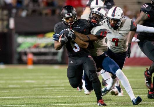 ASU running back Warren Ward led the Red Wolves in rushing Tuesday night with 59 yards.  (ASU Photo)