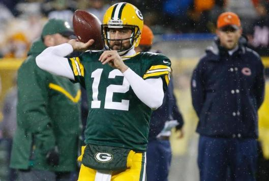 Green Bay Packers quarterback Aaron Rodgers (Chicago Bears photo)