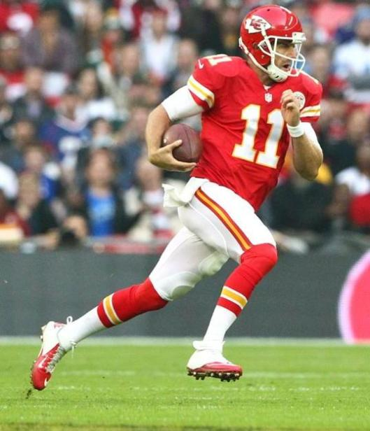 Chiefs quarterback Alexis Smith ran 49 yards, then 12 yards for Kansas City's second touchdown of the game Sunday against the Detroit Lions. (Kansas City Chiefs photo)