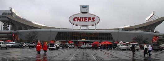 Arrowhead Stadium before the game Sunday (Kansas City Chiefs photo)
