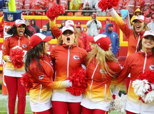 The Chiefs cheerleaders were happy Sunday. (Kansas City Chiefs photo)