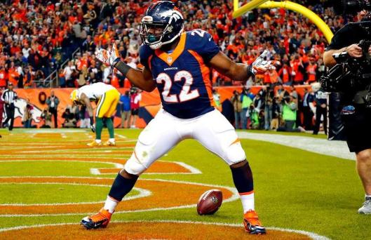 Broncos running back C.J. Anderson scored a touchdown in the second half Sunday. (Denver Broncos photo)