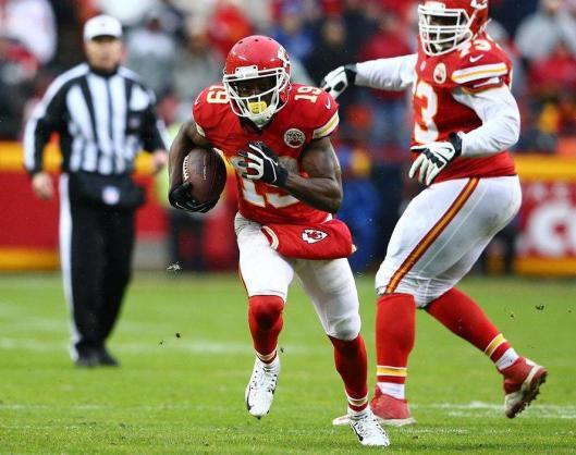 Wide receiver Jeremy Maclin scored the Chiefs' second touchdown Sunday. (Kansas City Chiefs photo)