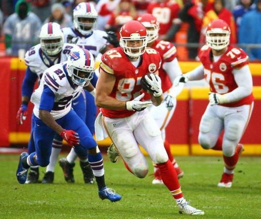 Tight end Travis Kelce scored the Chiefs' third touchdown Sunday. (Kansas City Chiefs photo)