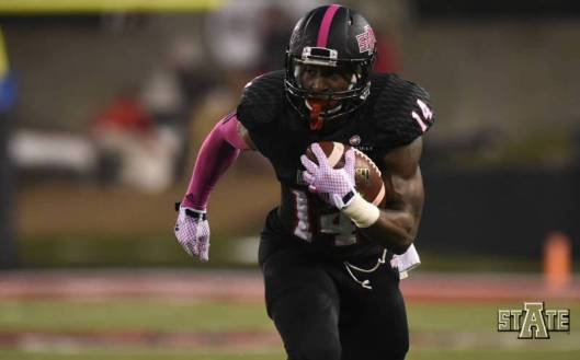 Senior wide receiver Tres Houston scored a Red Wolves touchdown at the start of the fourth quarter to tie the score at 34-34. (ASU photo)
