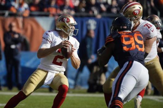 San Francisco quarterback Blaine Gabbert  (Chicago Bears photo)