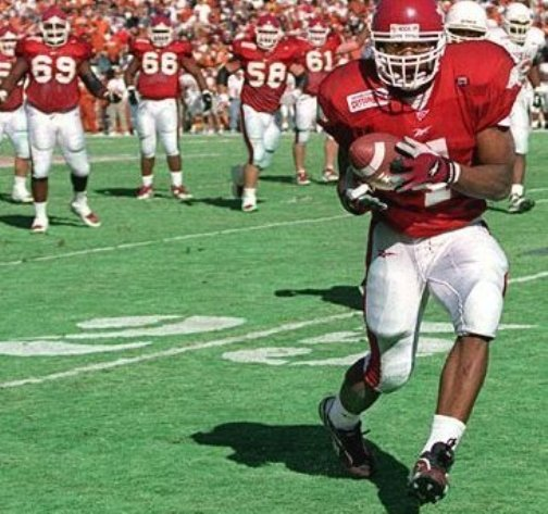 Razorback Cedric Cobbs in the 2000 Cotton Bowl