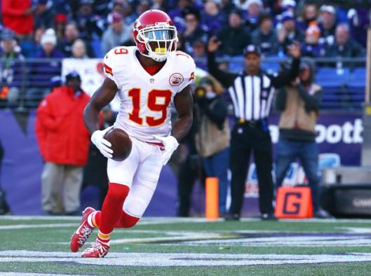 A 13-yard run by tight end Jeremy Maclin gave the Chiefs a touchdown near the start of the second quarter.  (Kansas City Chiefs photo)