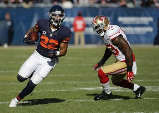 Running back Matt Forte scored a Bears touchdown in the middle of the first half Sunday.  (Chicago Bears photo)