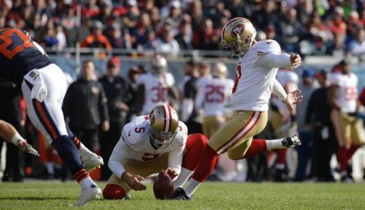 49ers kicker Phil Dawson (Chicago Bears photo)