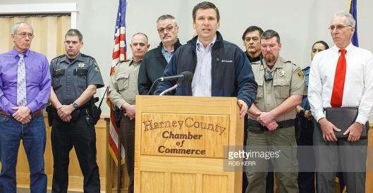 FBI Special Agent in Charge Greg Bretzing addresses the press conference Wednesday. (Getty image)