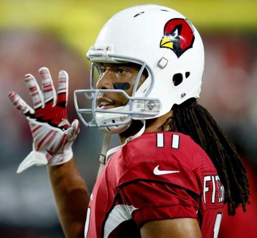 Cardinals wide receiver Larry Fitzgerald, who scored the game winning touchdown in overtime Saturday.  (Arizona Cardinals photo)