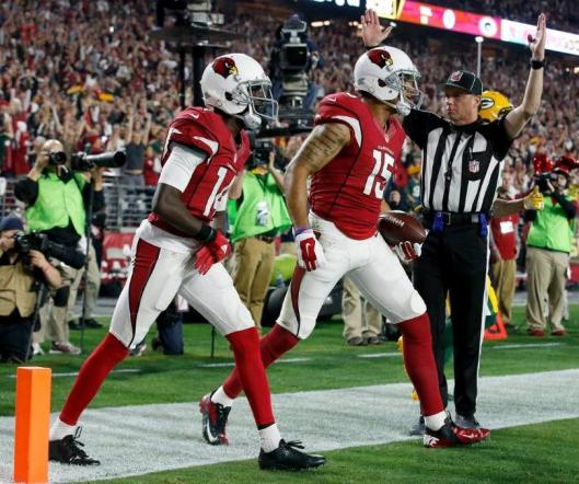 Cardinals wide receiver Michael Floyd scored the first touchdown of the divisional round game Saturday against the Green Bay Packers. (Arizona Cardinals photo)