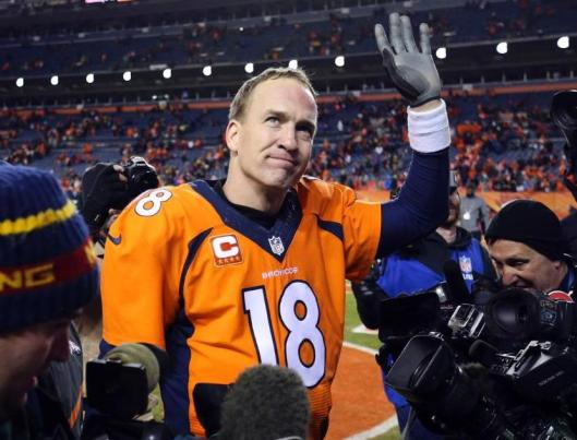 Peyton Manning greets his fans after the game Sunday.   (Denver Broncos photo)