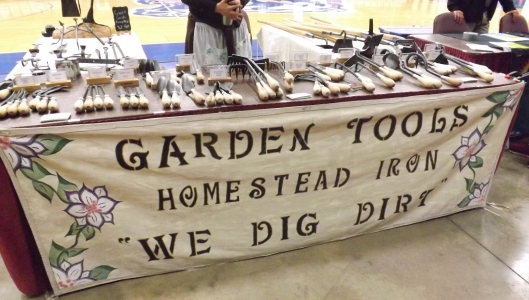 Garden Tools - Homestead Iron was among the vendors at the conference.