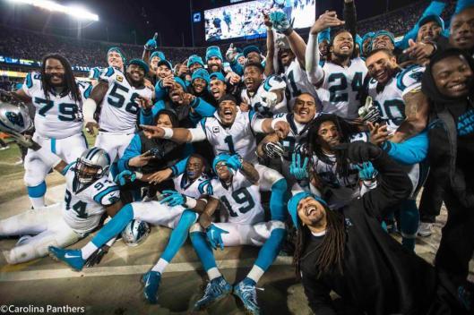 The Panthers celebrate. (Carolina Panthers photo)