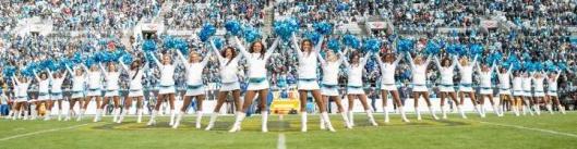 The Carolina TopCats cheerleaders (Carolina Panthers photo)