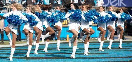 The Carolina TopCats had something to cheer about Sunday. (Carolina Panthers photo)