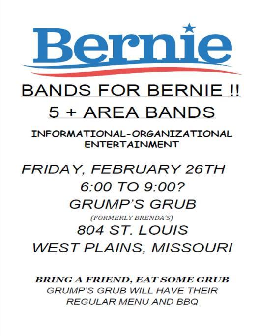 Bands for Bernie flyer 2