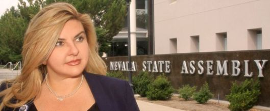 Nevada Assemblywoman Michele Fiore negotiated terms for the release of the four remaining protesters from the Malheur National Wildlife Refuge near Burns, Ore., and met them upon their turning themselves in.