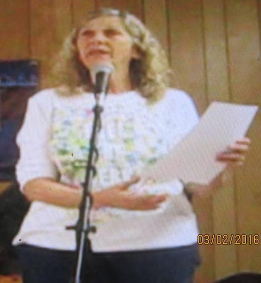 Bands for Bernie organizer Miriam Schrippe  (Hill 'n Holler staff photo)