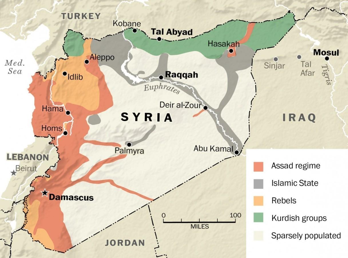 Hasil gambar untuk syria effect war map