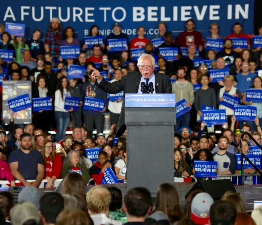 Bernie Sanders Saturday addressed a rally at the University of Wisconsin in Madison.  (BernieSanders.com photo)