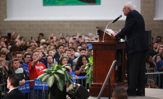 Bernie Sanders addresses the crowd. (BernieSanders.com photo)