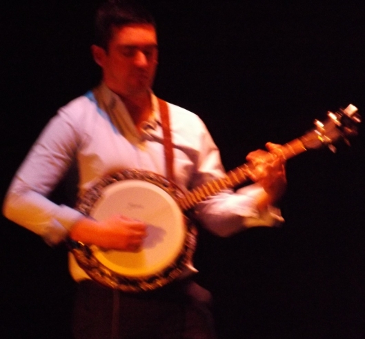 Brian Mooney, banjo player with Caldah Nua (Hill 'n Holler staff photo)