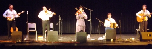 Caldah Nua playing at the West Plains Civic Center theater.  (Hill 'n Holler staff photo)