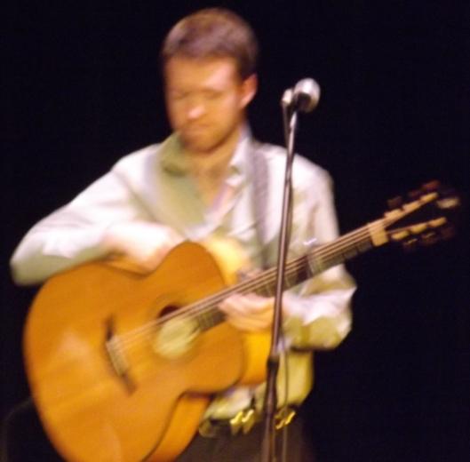 Caoimihin Ó Fearghah, guitar player with Caldah Nua (Hill 'n Holler staff photo)