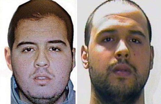 Ibrahim el-Bakraoui (left) and Khalid el-Bakraoui