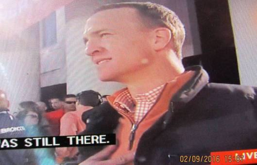 Peyton Manning savors the moment during Denver's celebration of the Broncos' Super Bowl 50 victory which drew a million people to town.