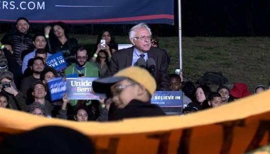 Bernie Sanders at a rally in the Bronx Thursday. (BernieSanders.com photo)
