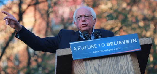 Bernie Sanders in New Haven, Connecticut, April 24 (berniesanders.com photo)