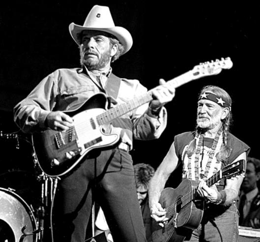 Merle Haggard and Willie Nelson (SiriusXM photo)