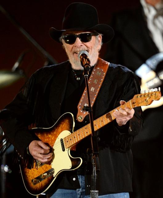 Merle Haggard performing in April 2014 in Los Vegas. (Getty Image)