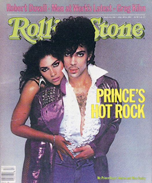 The first of several Rolling Stone covers featuring Prince in his younger days, this one from April 1983. (He was featured on at least six more, but apparently none recently)