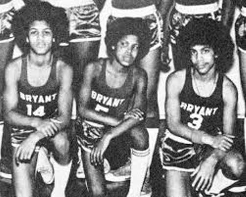 Prince, at right, on the Bryant Junior High School basketball team. He later was on the Central High School basketball team.