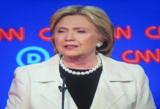 Hillary Clinton  (Hill 'n Holler photo of CNN debate broadcast on line)