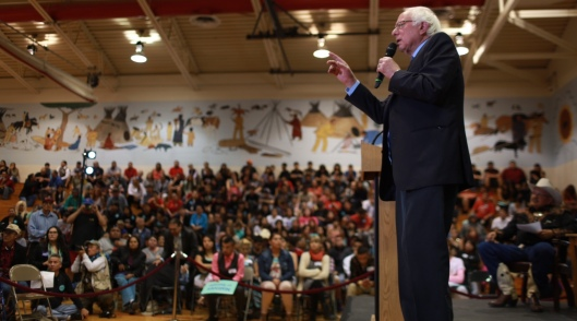 Bernie Sanders speaks in Pine Ridge, S.D. (berniesanders.com photo)