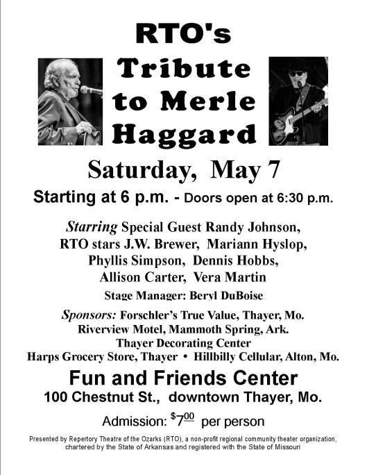 RTO Flyer - Merle Haggard Tribute 1B  5-7-16