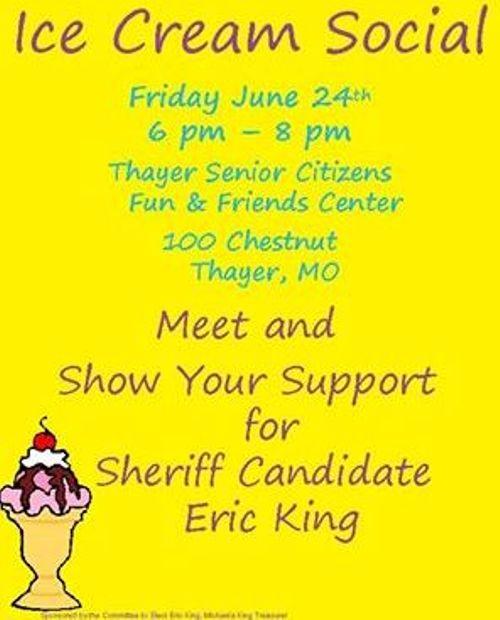Ice Cream Social in Thayer 6-24-16