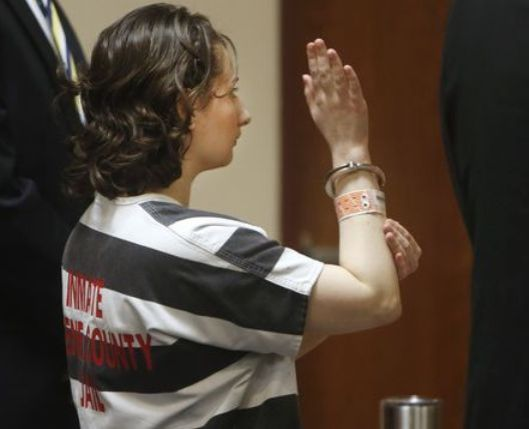 Gypsy Blancharde Tuesday, July 5, pled guilty to the reduced charge of second degree murder of her mother, Dee Dee Blancharde. (Pool photo by Andrew Jensen, Springfield News Leader)