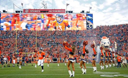 Sports Authority Field before the game Saturday. (Denver Broncos photo by Gabriel Christus)
