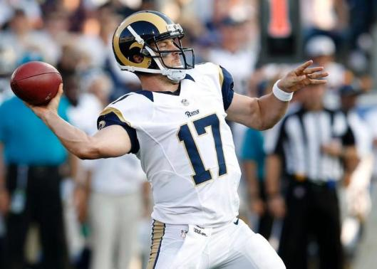 Case Keenum was starting quarterback for the Rams.  (Los Angeles Rams Photo)