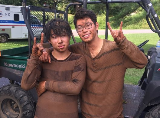 Daisuke Takogi and Daiki Itoh, two Arkansas State University students from Japan, were found safe in Blowing Cave Thursday. (ASU Photo)